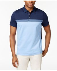 Alfani | Blue Men's Cavalry Colorblocked Polo for Men | Lyst