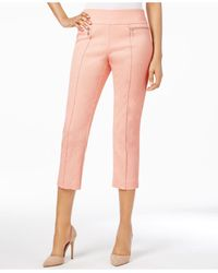 Style & Co. | Pink Pull-on Capri Pants | Lyst