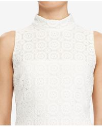 American Living - White Floral Lace Dress - Lyst