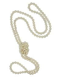 Majorica | Metallic Pearl Necklace, Organic Man-made Pearl Endless Rope | Lyst