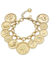 kate spade new york | Metallic Gold-tone Multi-coin Bracelet | Lyst