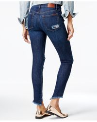 Joe's Jeans - Blue The Charlie Ankle Rosario Wash Ripped Skinny Jeans - Lyst