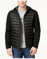 Michael Kors | Black Men's Packable Hooded Quilted Jacket for Men | Lyst