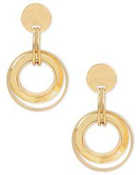 Robert Lee Morris - Metallic Gold-tone Disc And Circle Drop Earrings - Lyst