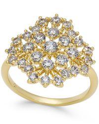 Danori - Metallic Cubic Zirconia Bouquet Cluster Ring In 18k Gold-plated Brass - Lyst