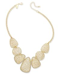 INC International Concepts - Metallic Gold-tone Filigree Statement Necklace - Lyst