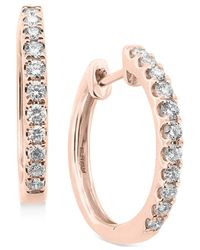 Effy Collection | Pink Diamond Hoop Earrings (1/2 Ct. T.w.) In 14k Yellow, White Or Rose Gold | Lyst