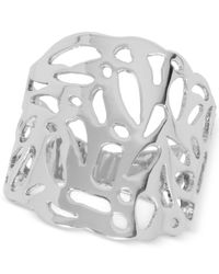 Touch Of Silver | Metallic Filigree Statement Ring In Silver-plate | Lyst