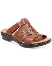 Clarks | Brown Women's Leisa Higley Flat Sandals | Lyst