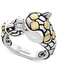 Effy Collection | Metallic Two-tone Panther Ring In Sterling Silver And 18k Gold | Lyst