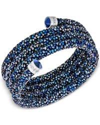 Swarovski - Blue Crystaldust Wrap Bracelet - Lyst