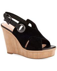 BCBGeneration   Black Penelope Wedge Sandals   Lyst