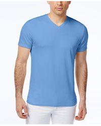 Alfani - Blue Fitted V-neck T-shirt for Men - Lyst