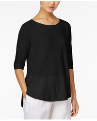 Eileen Fisher - Black High-low Tunic - Lyst