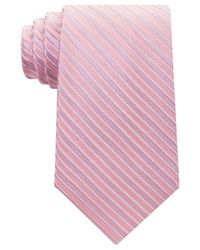 Michael Kors | Pink Men's Ribbed Stripe Tie for Men | Lyst