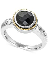 Effy Collection - Metallic Onyx Braid Ring In Sterling Silver And 18k Gold (1-3/4 Ct. T.w.) - Lyst