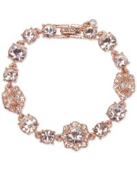 Givenchy | Metallic Stone And Crystal Link Bracelet | Lyst