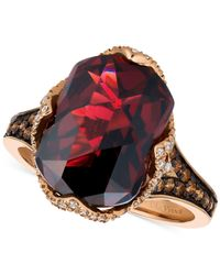Le Vian | Red Pomegranate Garnettm (6-9/10 Ct. T.w.) And Diamond (3/8 Ct. T.w.) Ring In 14k Rose Gold | Lyst