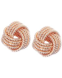 Nine West - Metallic Gold-tone Knot Stud Earrings - Lyst