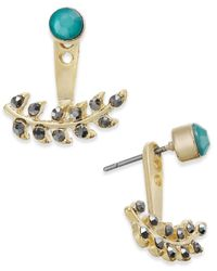 INC International Concepts - Green Gold-tone Vine-inspired Earring Jackets - Lyst