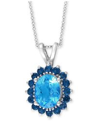 Effy Collection - Final Call By Effy® Blue Topaz Pendant Necklace (2-5/8 Ct. T.w.) In 14k White Gold - Lyst