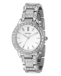 Fossil | Metallic Women's Jesse Stainless Steel Bracelet Watch Es2362 | Lyst