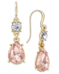 Charter Club | Pink Crystal Drop Earrings | Lyst
