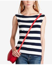 Polo Ralph Lauren - Blue Striped Tank Top - Lyst