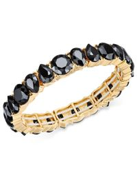 Charter Club | Metallic Gold-tone Jet Stone Stretch Bracelet | Lyst