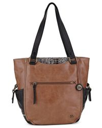 The Sak - Brown Kendra Leather Work Tote - Lyst