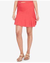 RACHEL Rachel Roy - Pink Ribbed Fit & Flare Skirt - Lyst
