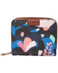 Fossil - Blue Emma Rfid Mini Wallet - Lyst
