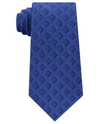 Michael Kors - Blue Men's Unsolid Solid Foreshadow Square Silk Tie for Men - Lyst