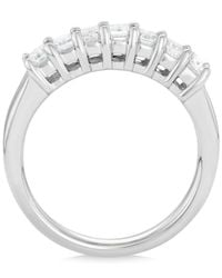Macy's - Metallic Diamond Seven Stone Ring (1 Ct. T.w.) In 14k White Gold - Lyst