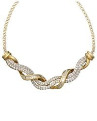 Macy's - Metallic 14k Gold Necklace, Diamond Swirl Twist (1/2 Ct. T.w.) - Lyst