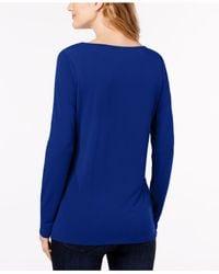 INC International Concepts - Blue Asymmetrical Top - Lyst