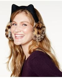 Kate Spade - Brown Cat Earmuffs - Lyst