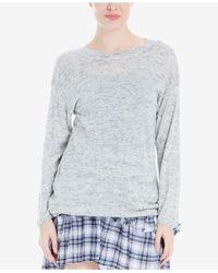 Max Studio | Gray Round-neck Sweater | Lyst