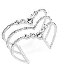 INC International Concepts - Metallic I.n.c. Rose Gold-tone Crystal Triple-row Cuff Bracelet, Created For Macy's - Lyst