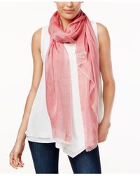 Calvin Klein - Red Chambray Woven Scarf - Lyst
