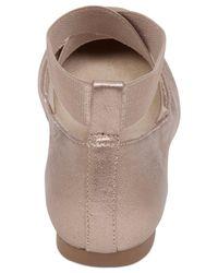 Jessica Simpson | Metallic Mandalaye Elastic Ballet Flats | Lyst