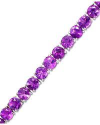 Macy's | Purple Amethyst Sterling Silver Bracelet (14 Ct. T.w.) | Lyst