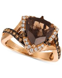 Le Vian - Metallic ® Chocolate Quartz® (2-1/2 Ct. T.w.) & Diamond (1/2 Ct. T.w.) Ring In 14k Strawberry Gold® - Lyst