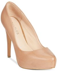 Charles David - Natural Frankie Platform Pumps - Lyst