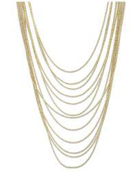 2028 - Metallic Gold-tone Multi-row Chain Necklace - Lyst