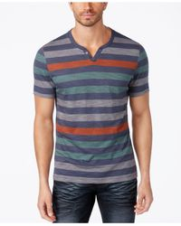 INC International Concepts | Blue Men's Heathered Striped T-shirt for Men | Lyst