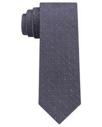 DKNY - Blue Textured Dash Slim Tie for Men - Lyst