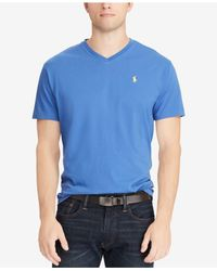 Polo Ralph Lauren Blue Classic-fit V Neck T-shirt for men