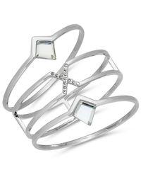 INC International Concepts - Metallic Gold-tone 3-pc. Set Pavé & Jet Stone Bangle Bracelets - Lyst