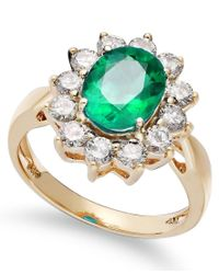 Macy's - Multicolor 14k Gold Ring, Emerald (1-3/4 Ct. T.w.) And Diamond (1 Ct. T.w.) - Lyst